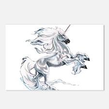 Ruth Thompson's White Unicorn Postcards (Package o