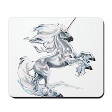 Ruth Thompson's White Unicorn Mousepad