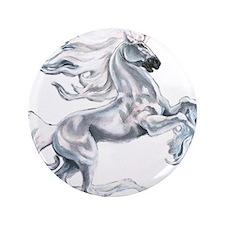 "Ruth Thompson's White Unicorn 3.5"" Button (100 pac"