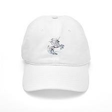 Ruth Thompson's White Unicorn Baseball Cap
