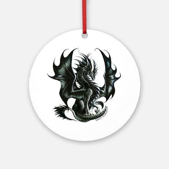 RThompson's Obsidian Dragon Ornament (Round)