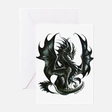 RThompson's Obsidian Dragon Greeting Cards (Pk of