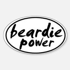 Beardie POWER Oval Decal
