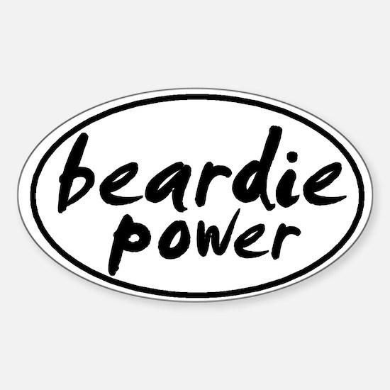 Beardie POWER Oval Decal
