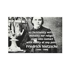 Nietzsche Religion Morality Rectangle Magnet (10 p