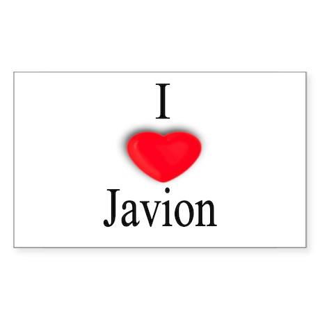 Javion Rectangle Sticker