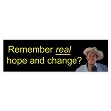 Reagan Remember Real Hope Car Sticker