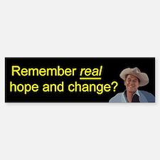 Reagan Remember Real Hope Sticker (Bumper)