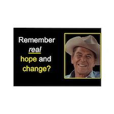 Reagan Remember Real Hope Rectangle Magnet