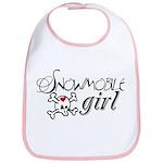 Snowmobile Girl Bib