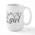 Snowmobile Girl Large Mug