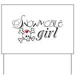 Snowmobile Girl Yard Sign