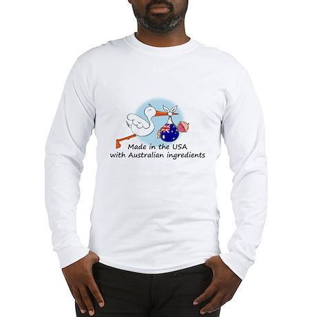 Stork Baby Australia USA Long Sleeve T-Shirt