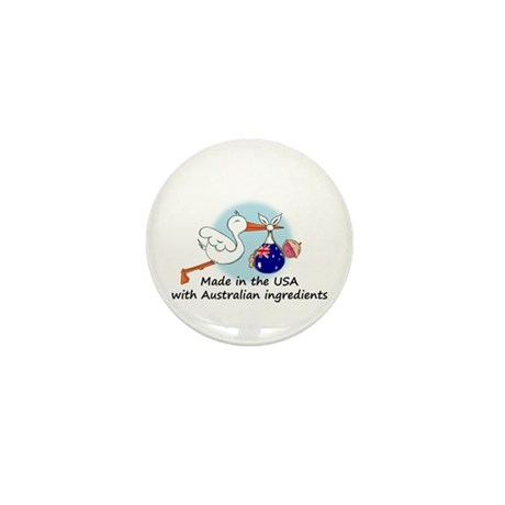 Stork Baby Australia USA Mini Button