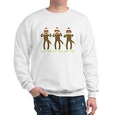 No Evil Sock Monkeys Sweatshirt