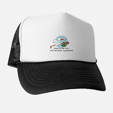 Stork Baby Brazil USA Trucker Hat