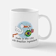 Stork Baby Brazil USA Mug