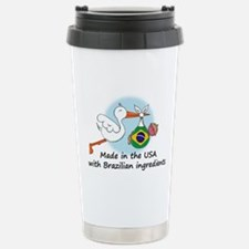 Stork Baby Brazil USA Travel Mug