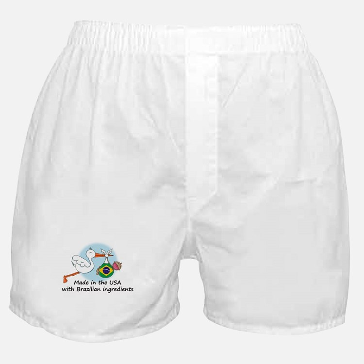 Stork Baby Brazil USA Boxer Shorts