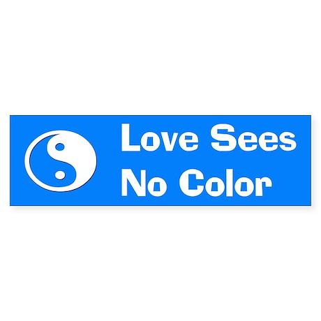 Love Sees No Color Sticker (Bumper) (A)