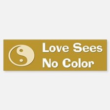 Love Sees No Color Sticker (Bumper) (B)