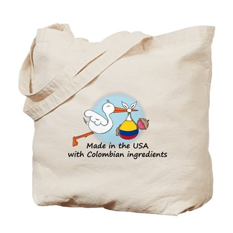 Stork Baby Colombia USA Tote Bag