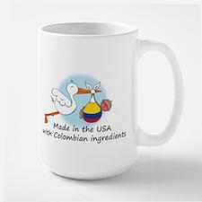 Stork Baby Colombia USA Large Mug