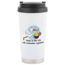 Stork Baby Colombia USA Travel Coffee Mug