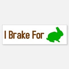 I Brake for Bunnies Sticker (Bumper)