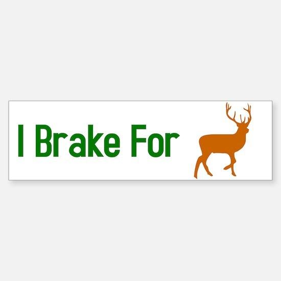 I Brake for Deer Sticker (Bumper)