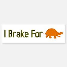 I Brake for Turtles Bumper Bumper Sticker