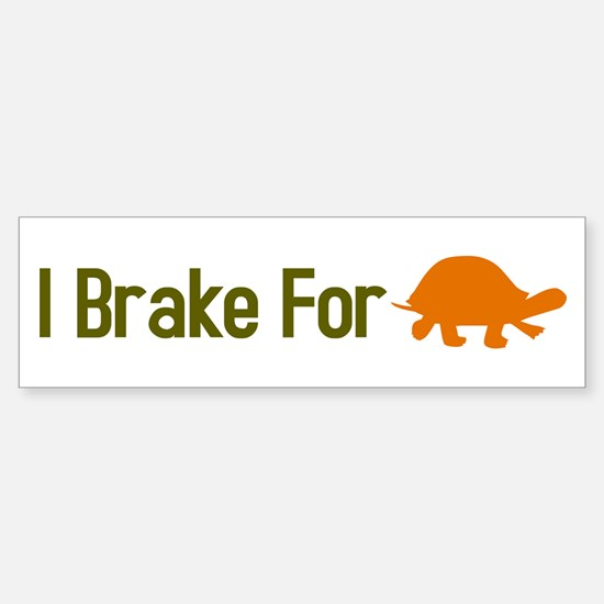 I Brake for Turtles Sticker (Bumper)