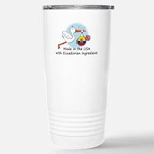 Stork Baby Ecuador USA Travel Mug