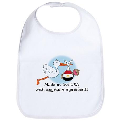 Stork Baby Egypt USA Bib