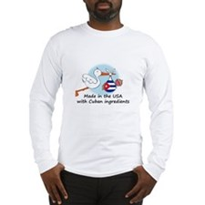 Stork Baby Cuba USA Long Sleeve T-Shirt
