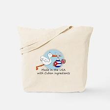 Stork Baby Cuba USA Tote Bag