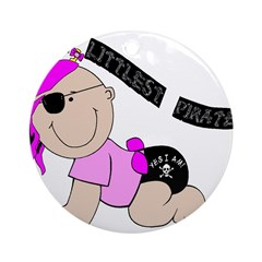 Littlest Pirate - Girl Ornament (Round)