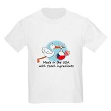Stork Baby Czech Rep. USA T-Shirt
