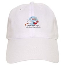 Stork Baby Czech Rep. USA Baseball Cap