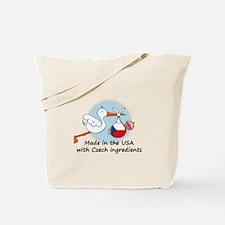 Stork Baby Czech Rep. USA Tote Bag
