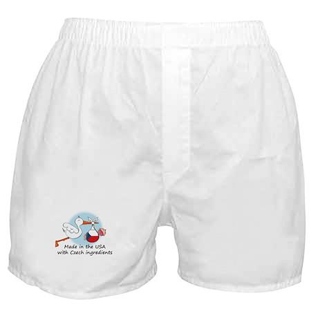 Stork Baby Czech Rep. USA Boxer Shorts