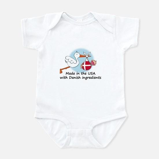 Stork Baby Denmark USA Infant Bodysuit