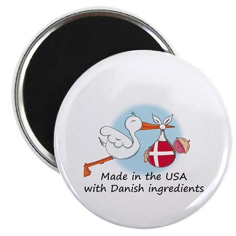 Stork Baby Denmark USA Magnet