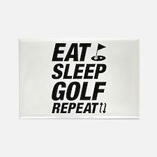 Eat Sleep Golf Repeat Rectangle Magnet