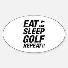 Eat Sleep Golf Repeat Sticker (Oval)