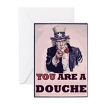 You Are A Douche! Greeting Cards (Pk of 20)