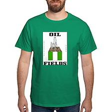 Nigeria Oil Fields Green T-Shirt,Oil Field Gift