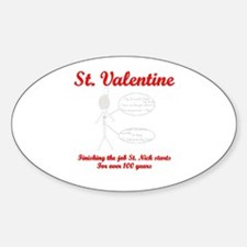 Valentines Suicide Oval Decal