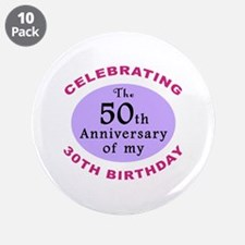 "Funny 80th Birthday Gag 3.5"" Button (10 pack)"