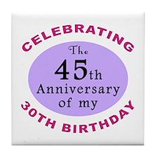 Funny 75th Birthday Gag Tile Coaster
